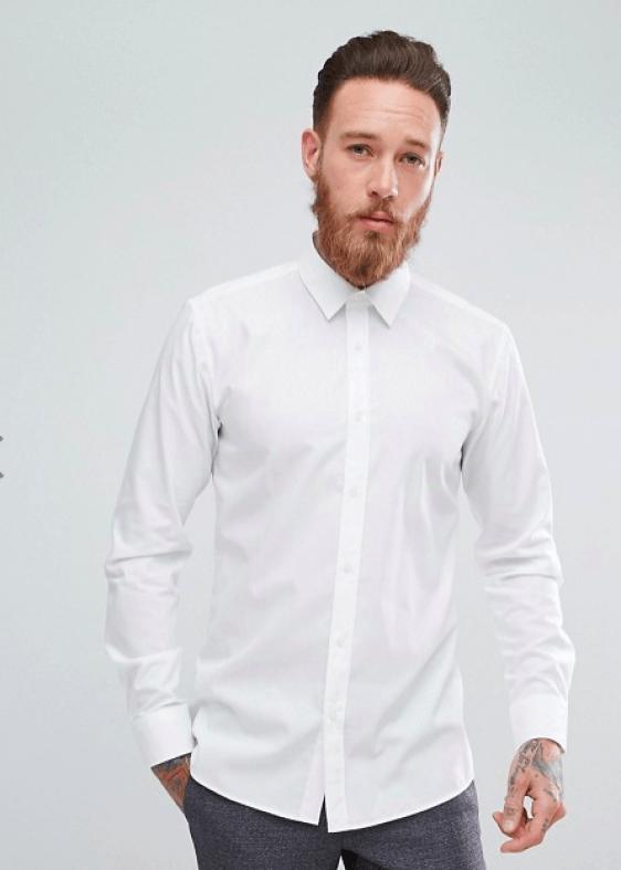 idée de look en chemise blanche pour homme Hugo Boss