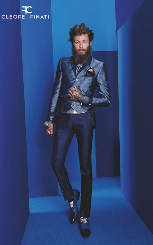 Sortie de soirée: le gui des tenues pour homme fancy bar speakeasy menswear style tendance men tuxedo texture textile blue