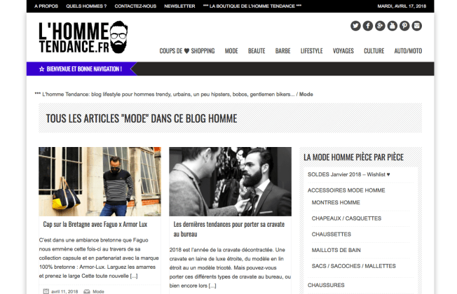 top 15 blogs de mode homme