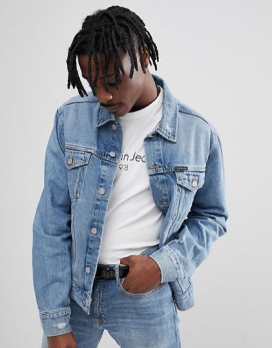 idée de look pour homme veste en jean