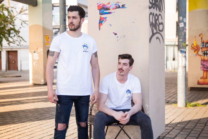 Edgard Paris tee-shirt pour homme en coton blanc brodé créateur