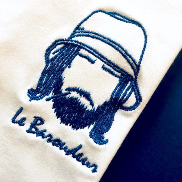 Tee-shirt brodé fabriqué en France le baroudeur