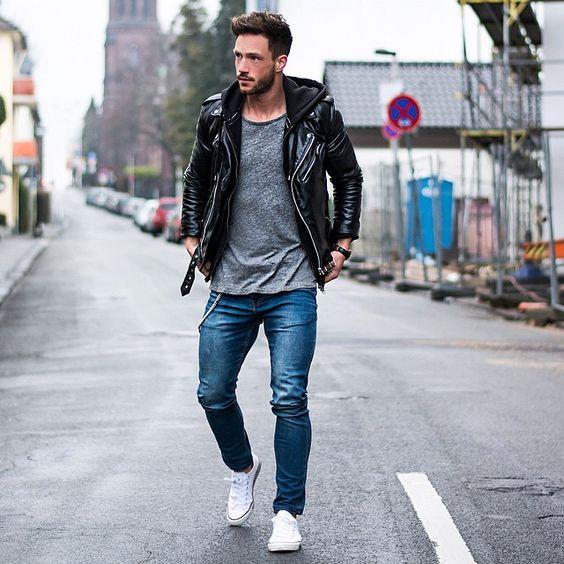 comment bien porter le sweat-shirt et la veste en cuir
