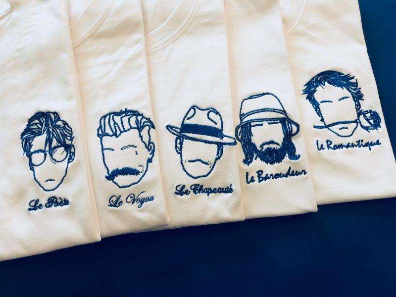 tee-shirt brodé créateur parisien Edgard Paris