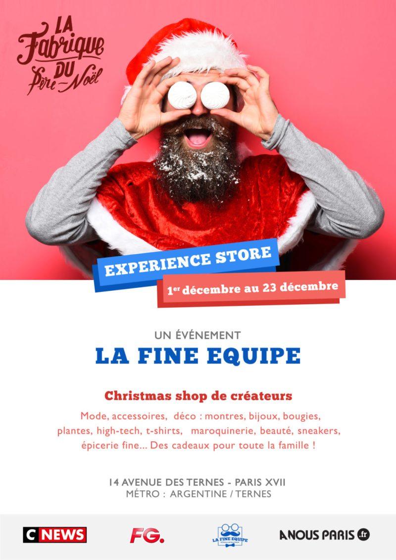 pop up store de créateur la fabrique du père Noël Edgard Paris