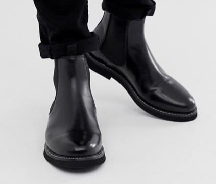 Bottines noir idée de look élégant