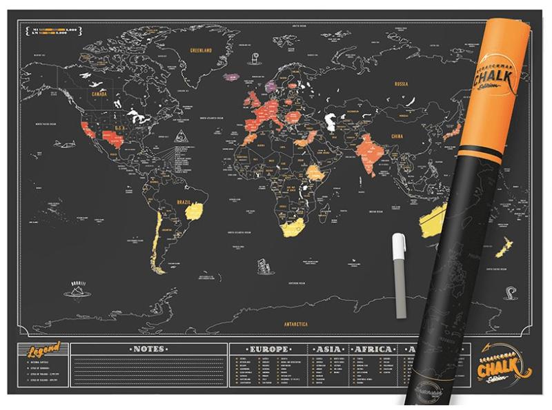 Mappecarte du monde à gratter idée de cadeau