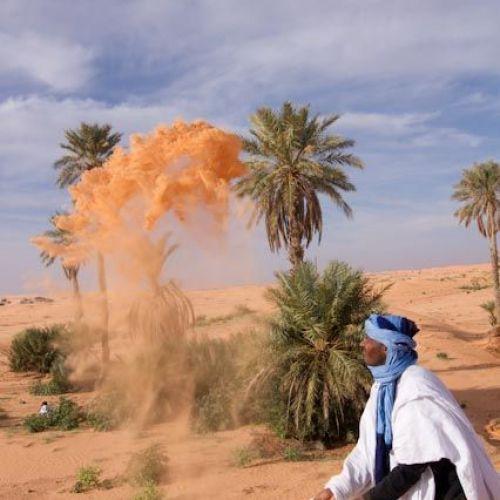 sable du désert algérien
