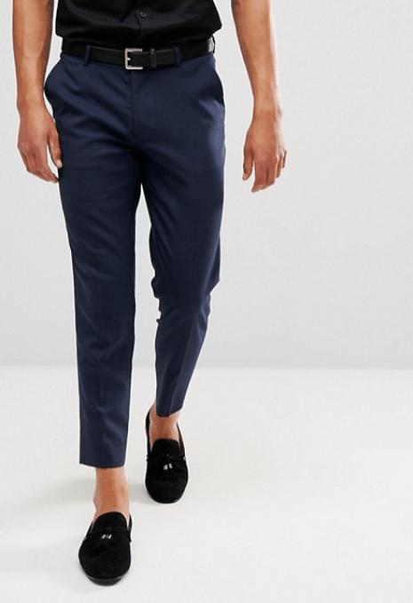 pantalon bleu marine idée de look chic