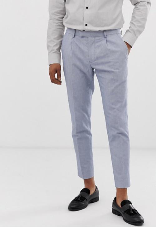 Pantalon bleu idée look chic