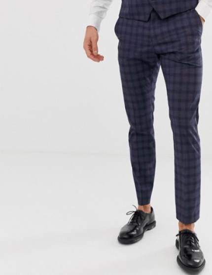Pantalon bleu Selected Homme pour une idée de look élégant