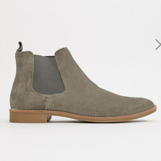 Bottines homme en daim gris