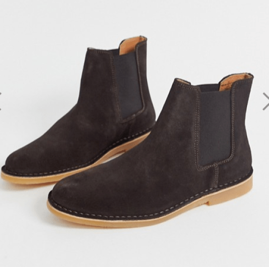 Bottines homme chelsea marron daim