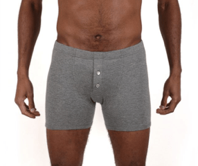 Boxer petrone homme gris boutons nacre