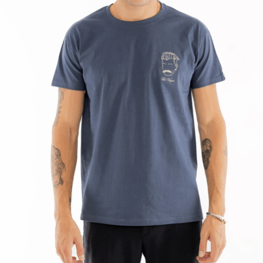 T-shirt homme bleu made in France