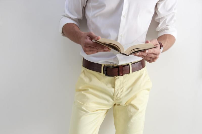 Homme ceinture pantalon cuir chemise mode porter belt
