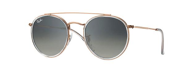 lunettes Round double bridge rayban soleil