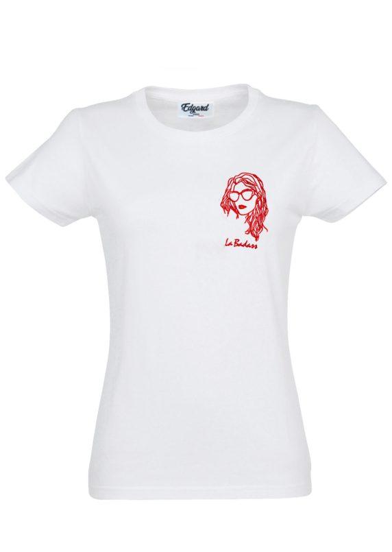 Tee shirt femme Saint Valentin bohème broderie rouge cadeau