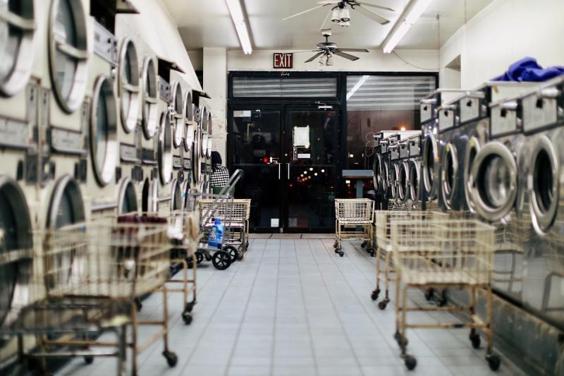 Laverie lavomatique linge