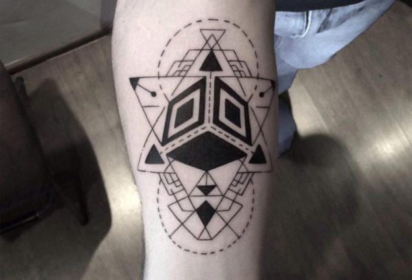 tatouages les plus à la mode art abstrait