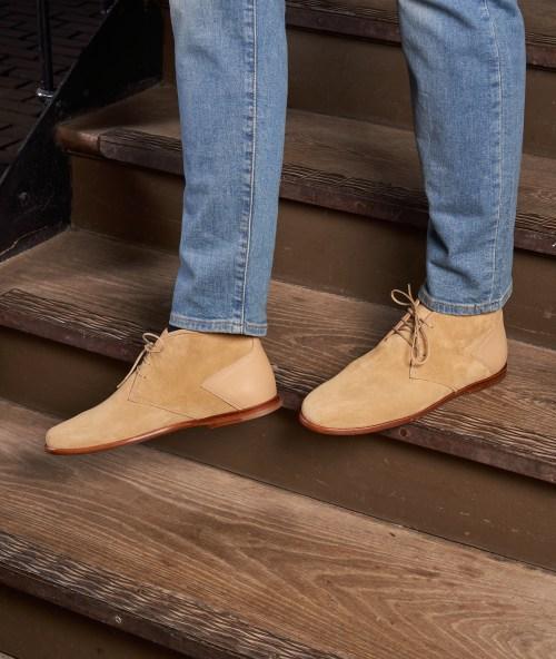 bottine chukka cappuccino paire & fils chaussures qualité homme