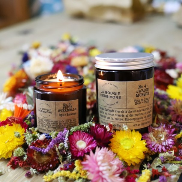 La bougie herbivore et ses bougies naturelles