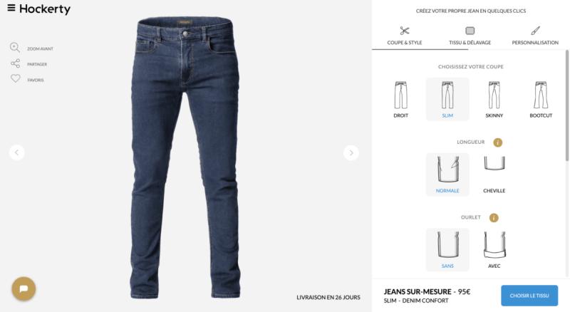 Le jean sur-mesure en ligne Hockerty