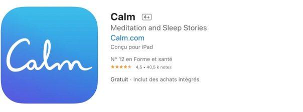 Top 10 des apps pour mieux dormir Calm