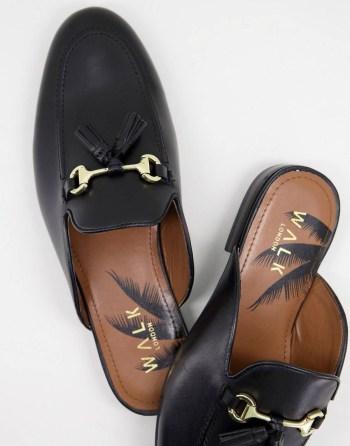 Imitation Gucci Princetown Mocassins mules en cuir Walk London