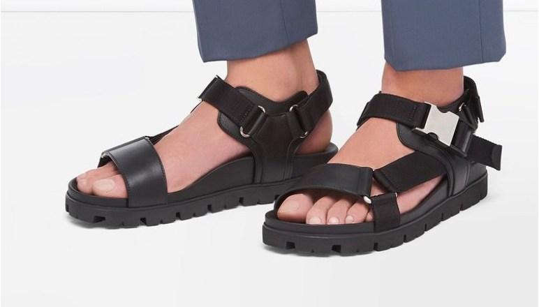 Les meilleures imitations de chaussures de luxe Sandales Prada