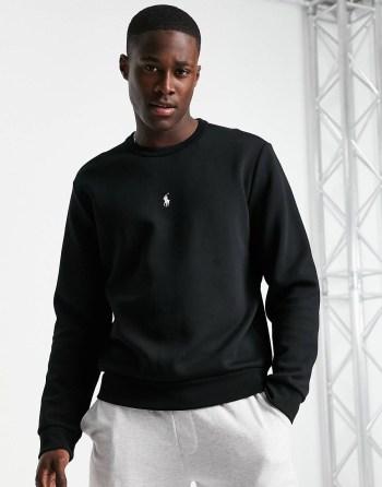 Sweat-shirt à logo noir Ralph Lauren