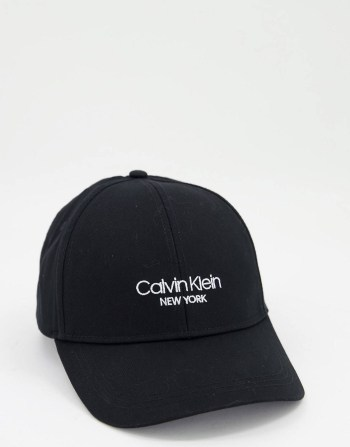 Casquette noir à logo Calvin Klein