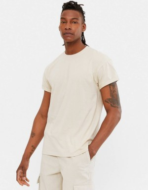 T-shirt taupe New Look