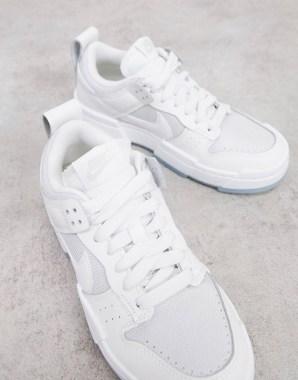 Idée de look 48 Baskets Nike Dunk Low Disrupt blanc et gris