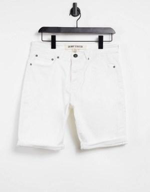Short en jean blanc skinny New Look