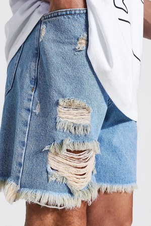 Idée de look 48 Short en jean déchiré Boohoo