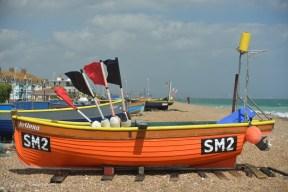 """""""Jo-Anna"""". el bote de pescador más fotografiado en el lado este de la playa."""