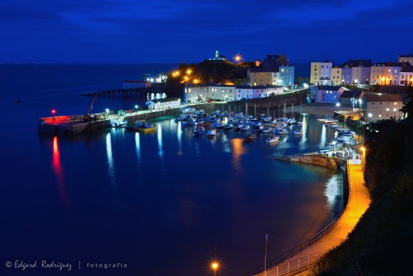 """""""Colourful night in Tenby"""""""