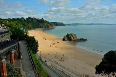 North Beach con su Bandera Azul, que la acredita como una playa que cumple con un estándar de calidad internacional.