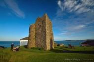 La torre del Castillo de Tenby, es el único remanente de esta fortificación construido por los Normandos, después de haber invadido El sur-oeste de Gales.