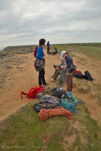 Una de las actividades más extendidas en la zona: Escalada en roca.