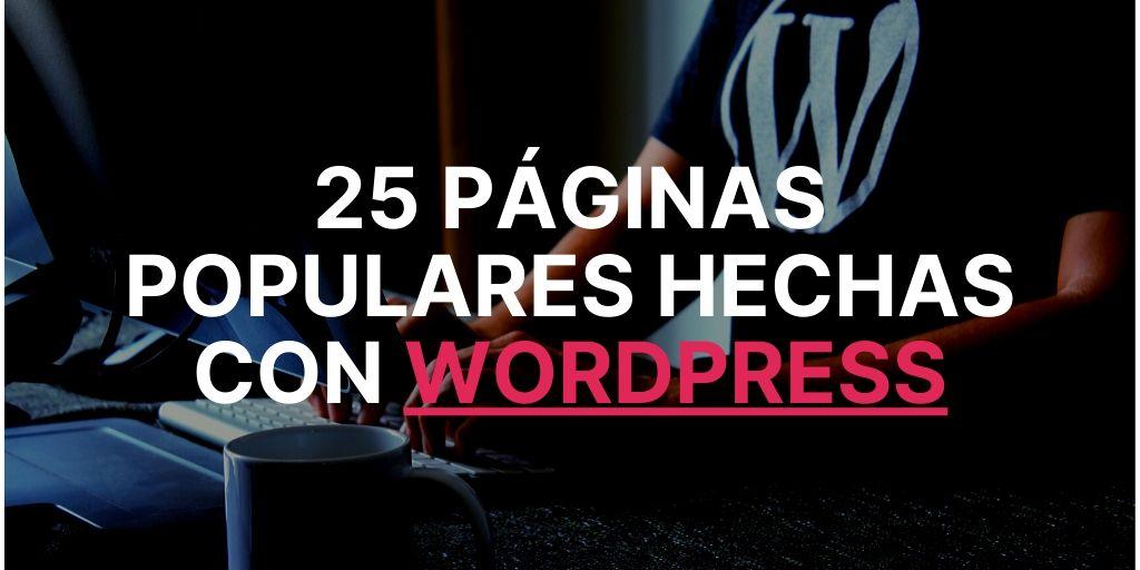 25 páginas hechas con Wordpress