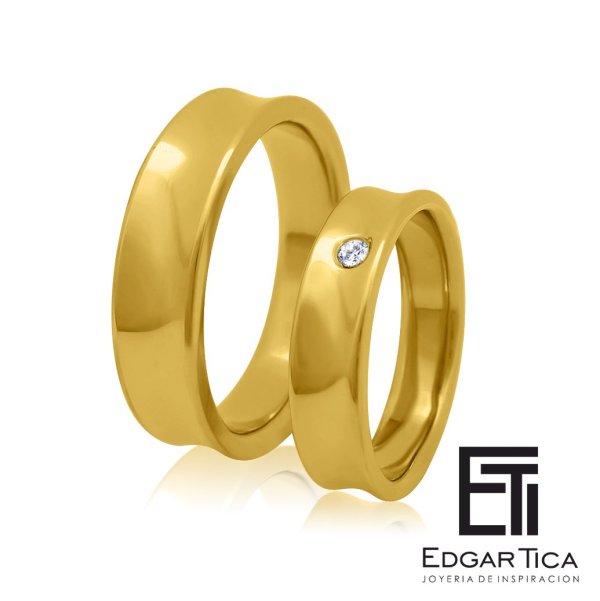 Anillo de compromiso joyería peruana online Edgar Tica - Waylluy oro 18k amarillo