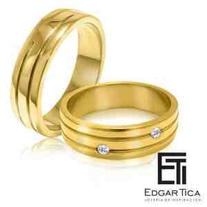 Astay aros de boda oro 18k Edgar Tica joyería peruana online