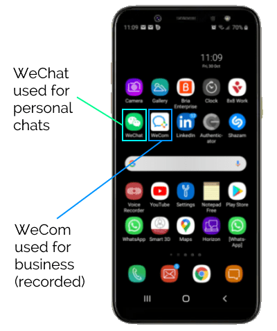 WeChat Recording using WeCom
