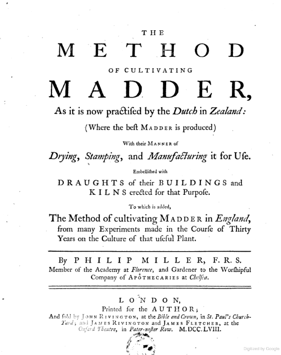 The Method of Cultivating Madder