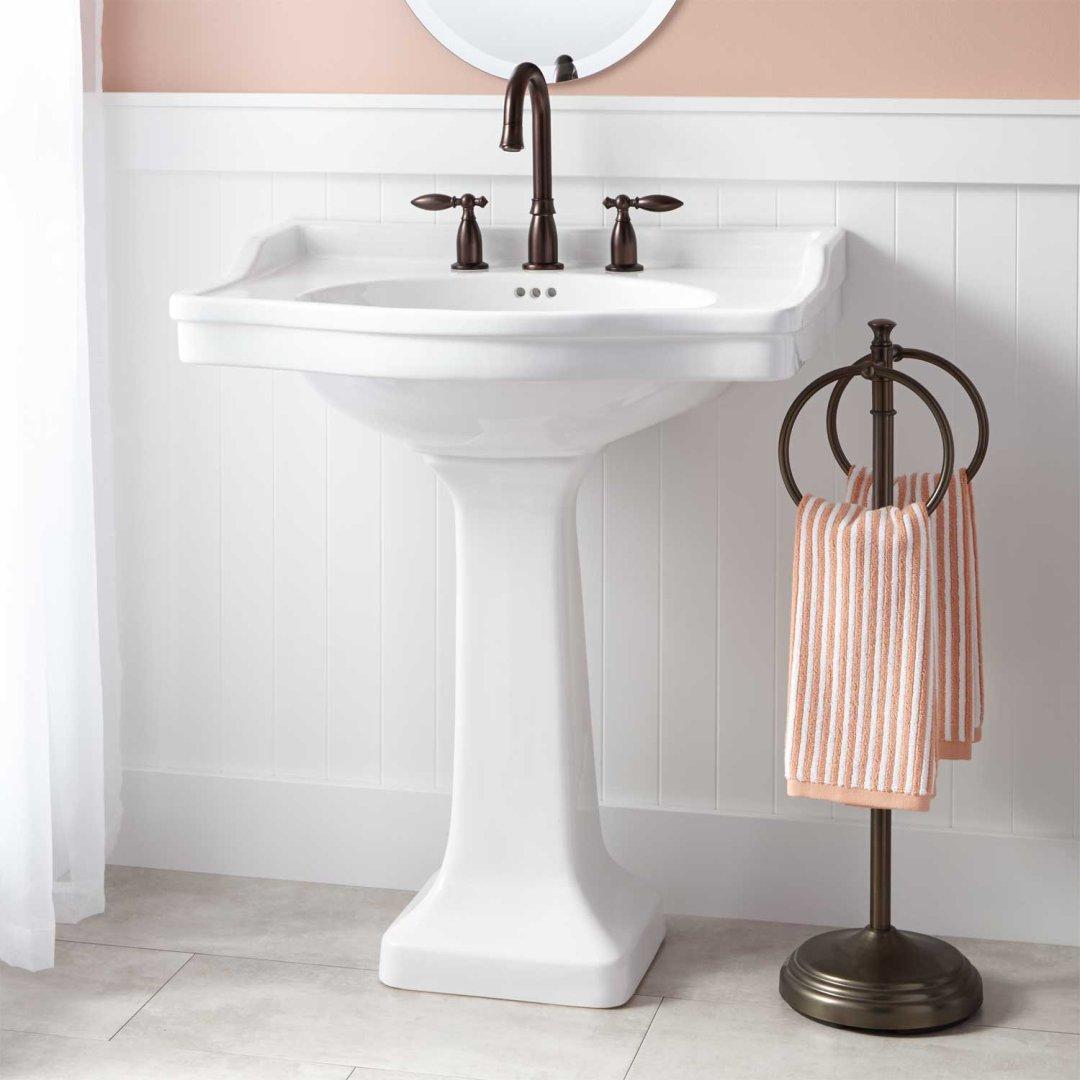 cierra large porcelain pedestal sink