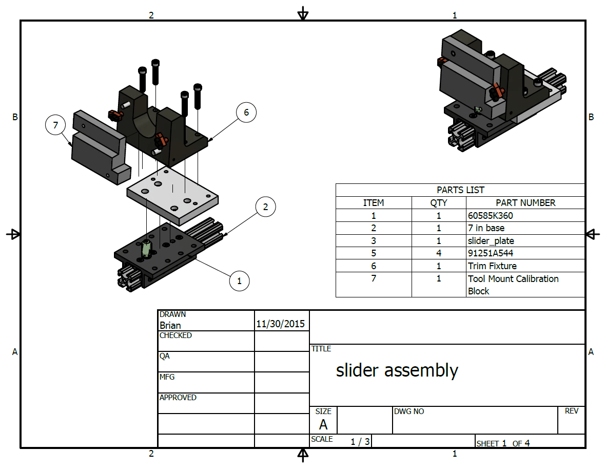 Automotive Parts Drawings