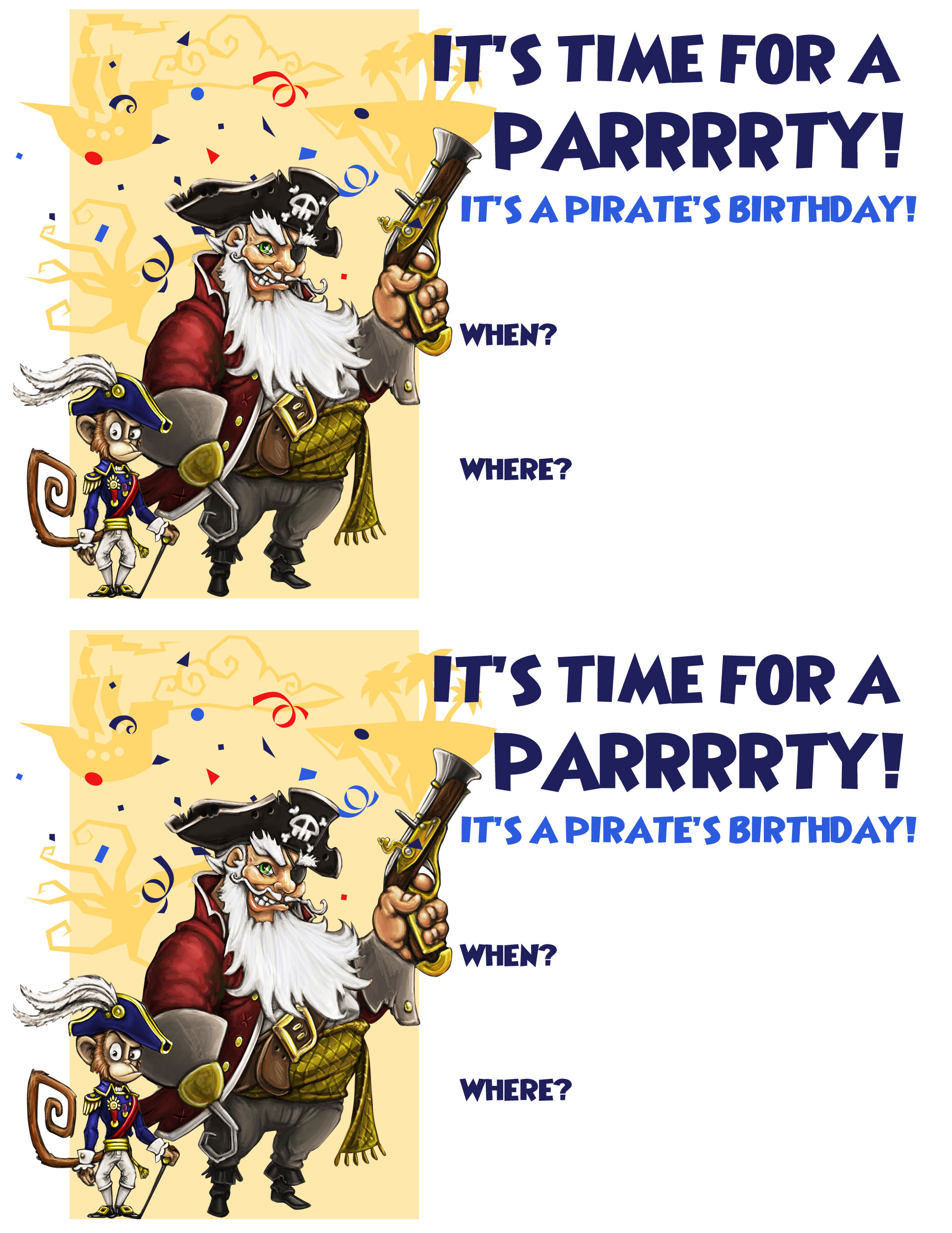 create a pirate birthday party pirate101