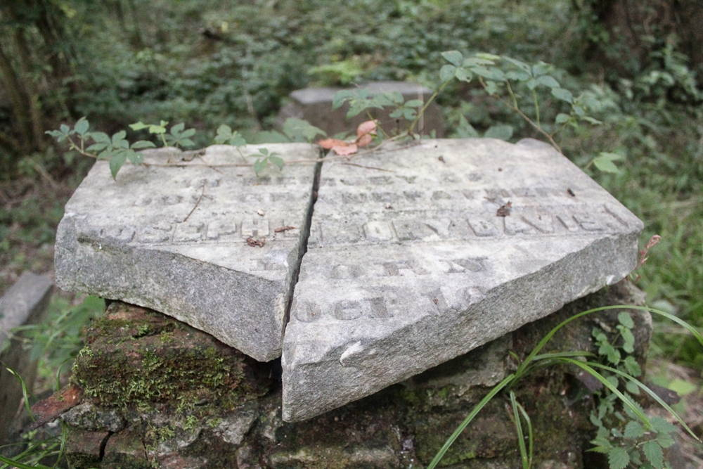 What remains of the headstone marking the grave of Joseph Davis, who purchased an immense tract of rich Mississippi bottomland with abundant river frontage in 1818. He sold thousands of acres off to friends and gifted what would become Brierfield to his youngest brother, Jefferson. Benjamin Montgomery, who managed Joseph's plantation while enslaved and bought and ran both plantations for twelve years after the war, is also buried on Davis Island, but his grave has not been located. (Hamilton, 2014)